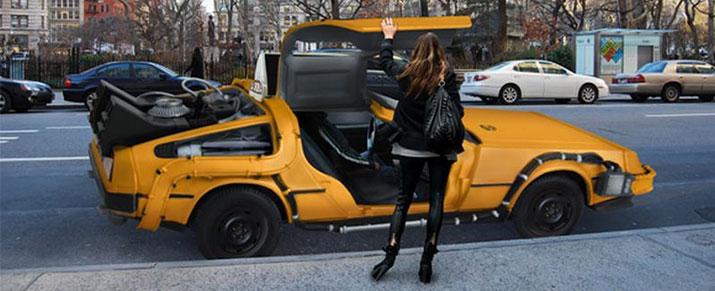Taxis Volver al Futuro en NY