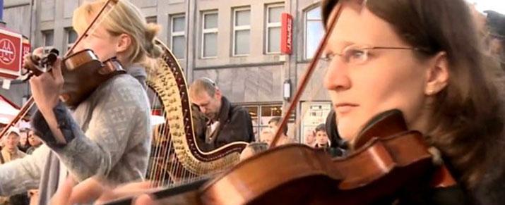 Flashmob Star Wars en las calles de Alemania
